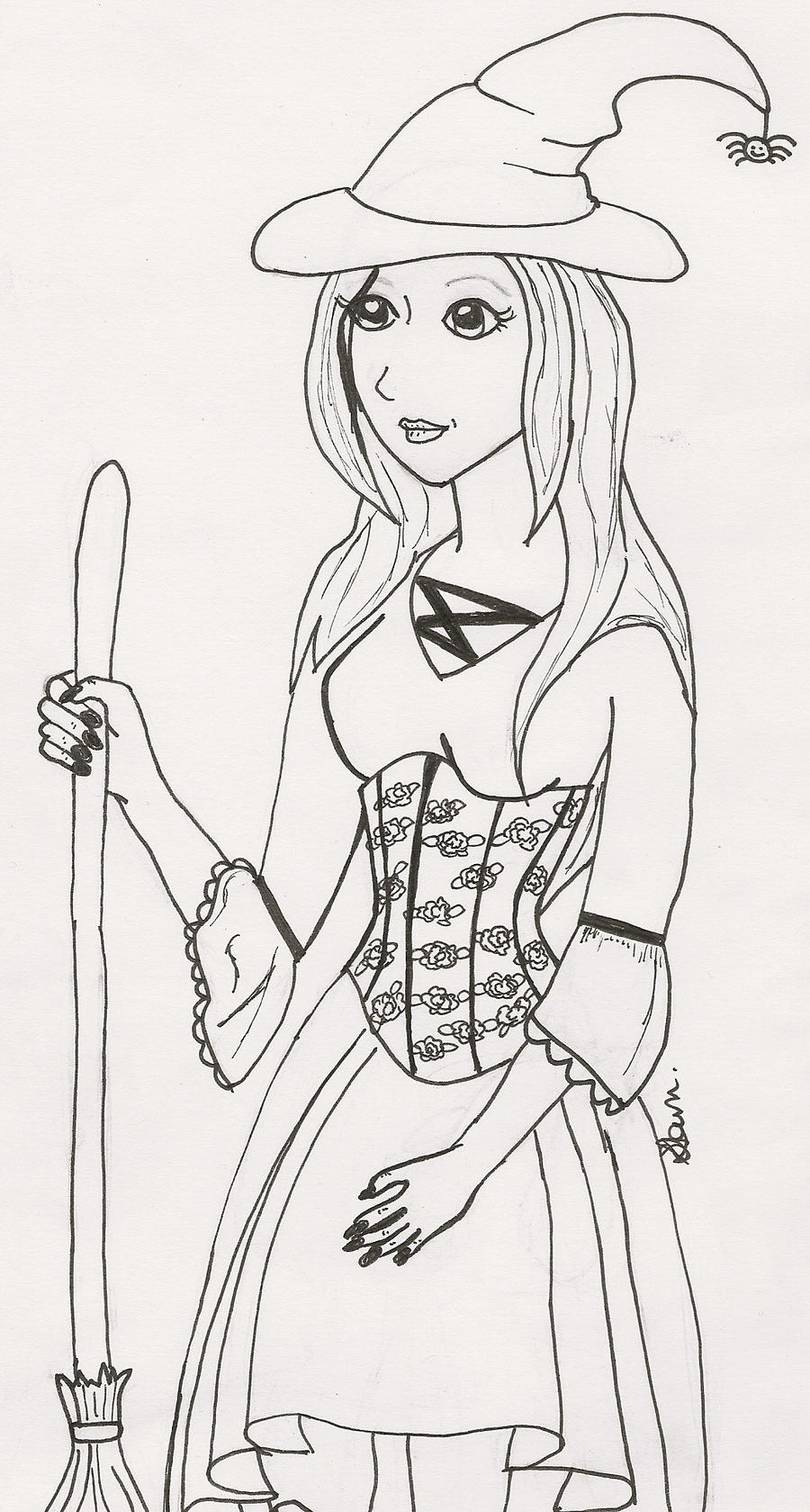 Line Art Halloween : Halloween costume line drawing by crimsonangel on