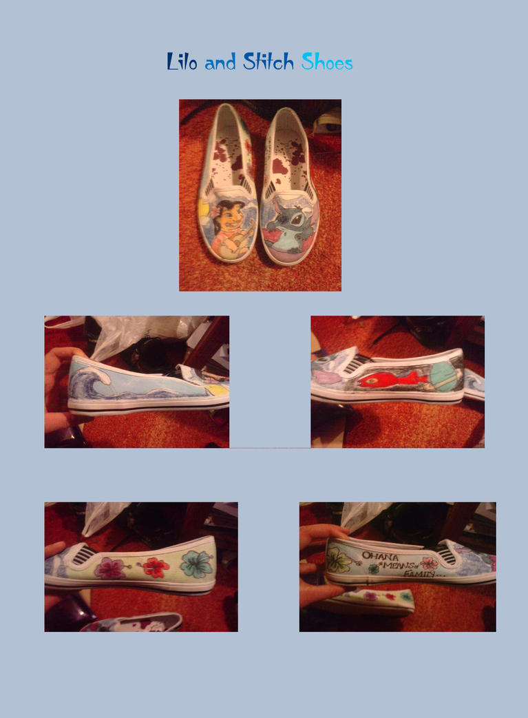 Lilo and stitch shoes by crimsonangel666 on deviantart for Lilo and stitch arts and crafts
