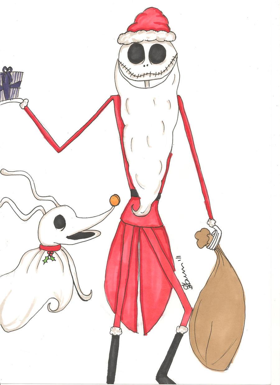 Jack Skellington as Santa Claus by crimsonangel666 on DeviantArt