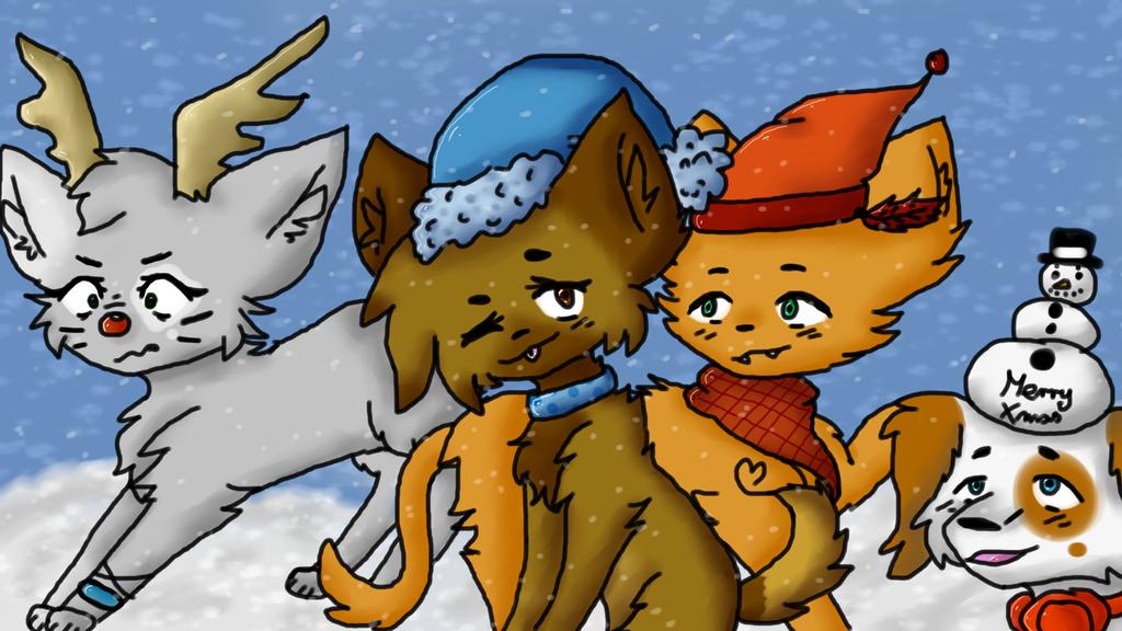 Furry Christmas! by CzikaTheDogewow12