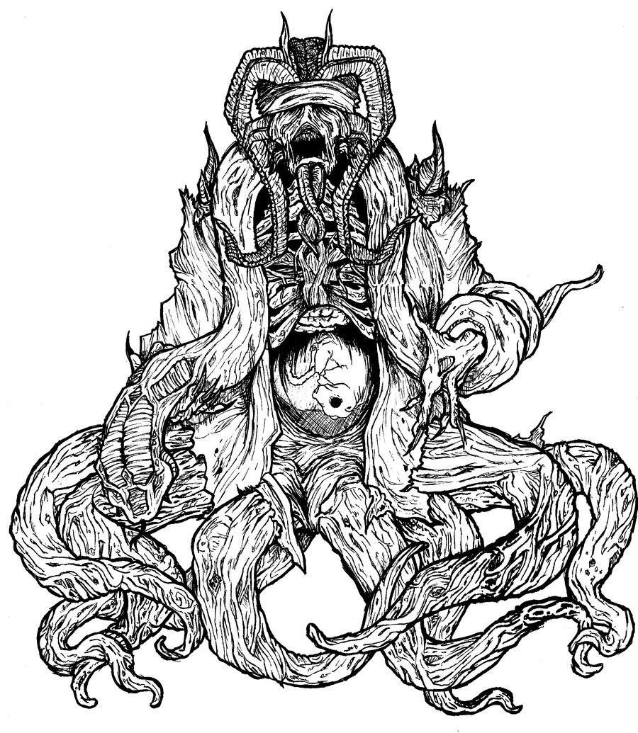 Demon With Pig Fetus By Munkeydmetal On DeviantArt