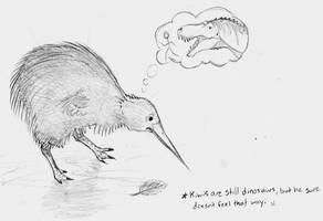 Do Kiwis Dream of Extinct Beasts?