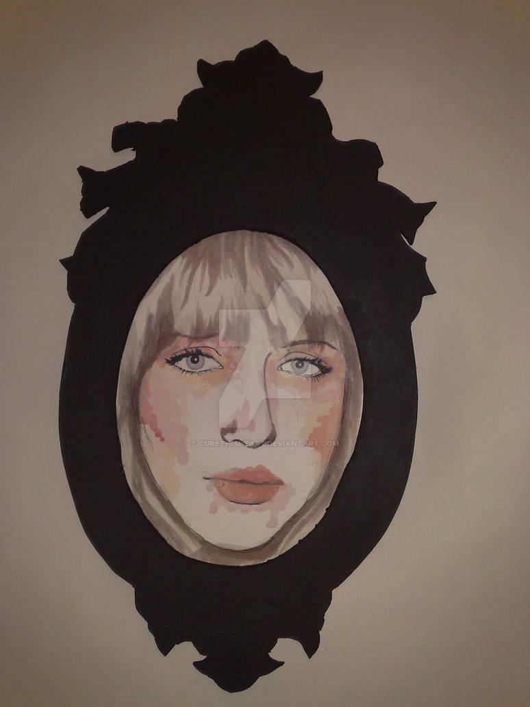 white girl framed