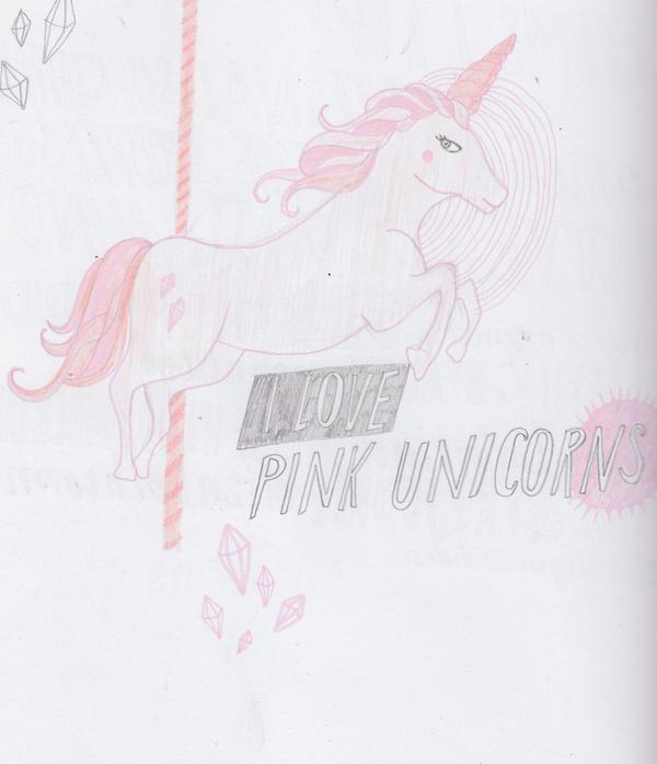 i love pink unicorns