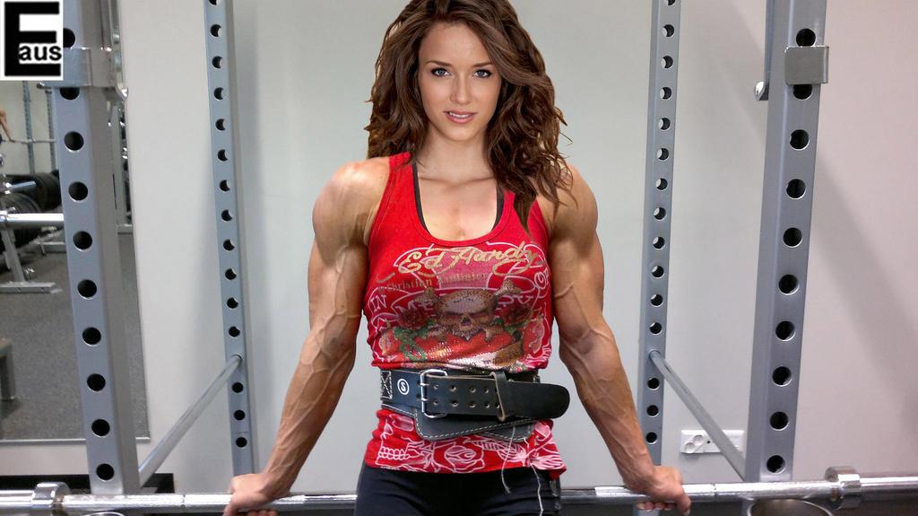 veiny muscle girl