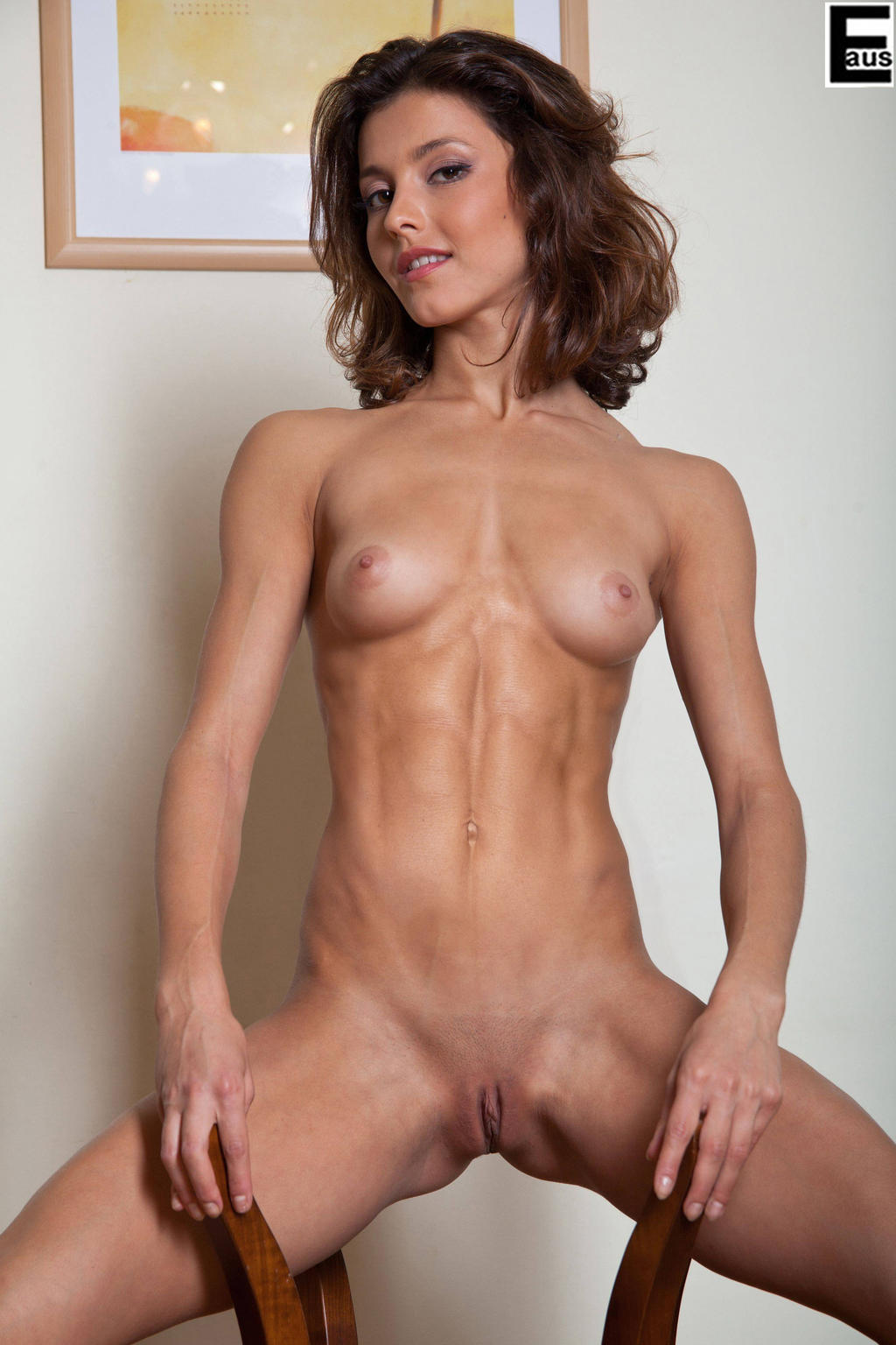 Hot woman body loving