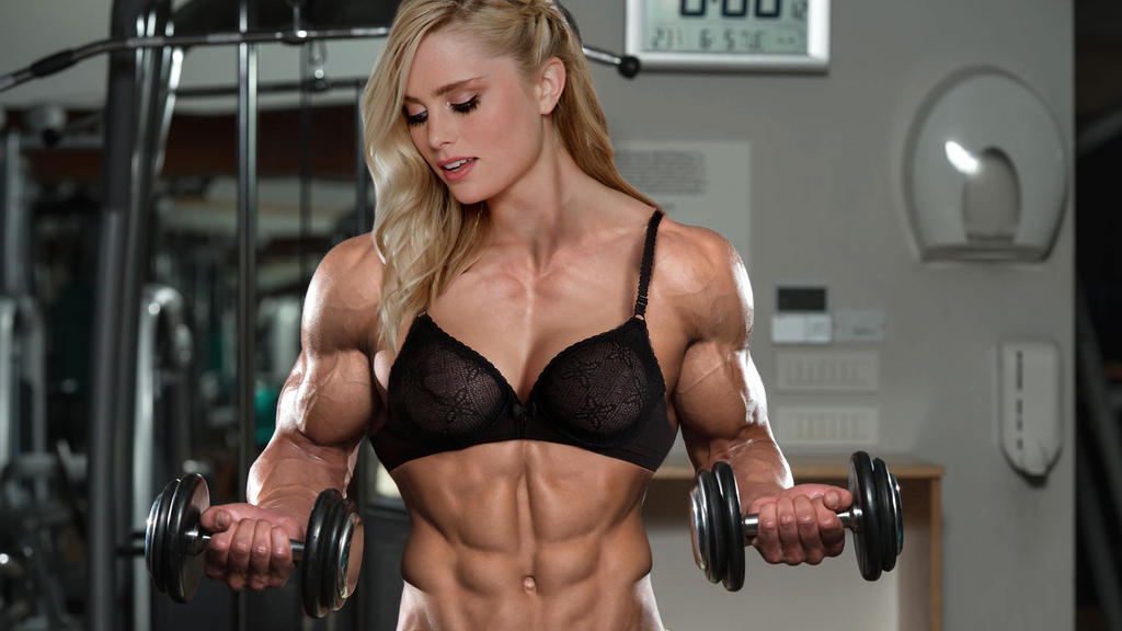 image Sexy female bodybuilder her muscles are just hot