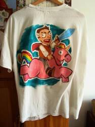 Vimes on rainbow unicorn