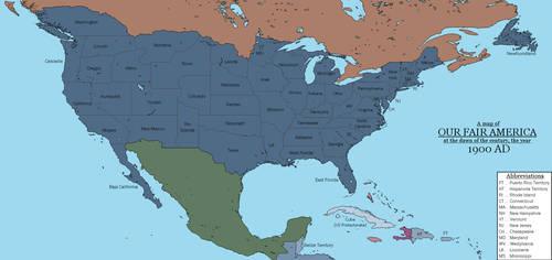 (AH) Our Fair America, circa 1900 AD by Dinotrakker