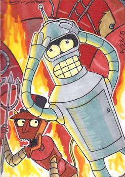 Sketch Book: #8 Bender in Hell