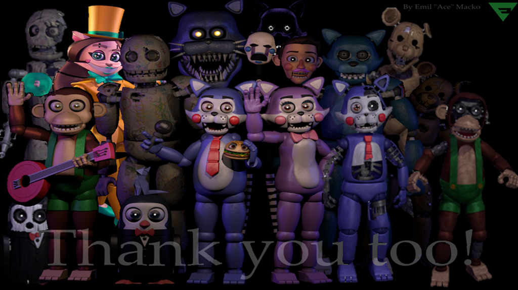 Fnac Thank You With Fnac 2 Animatronics Wip by fnatirfan on DeviantArt