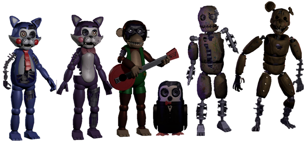 Fnac 2 Animatronics With Fnac 1 Model by fnatirfan on ...
