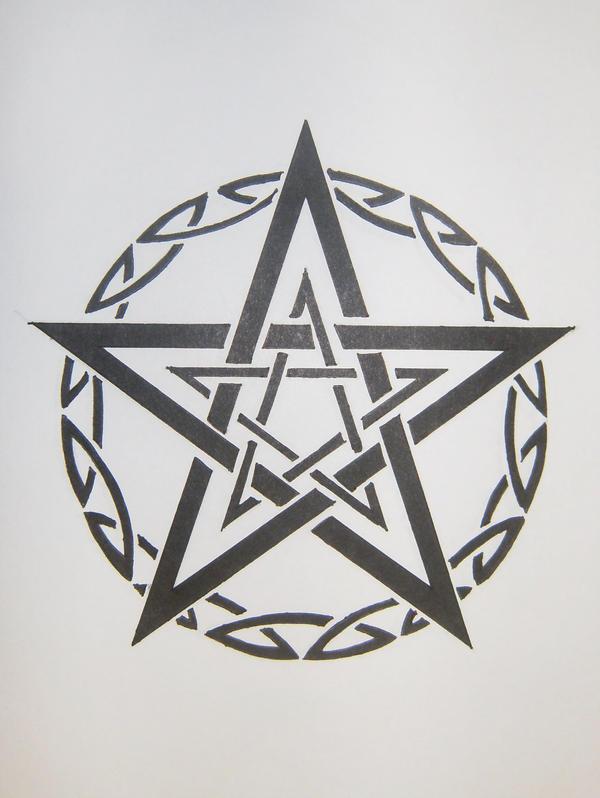 pentagram tattoo designs. star tattoo designs