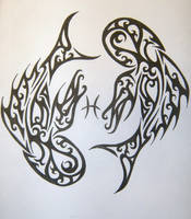 Pisces Tribal by MagpieVon