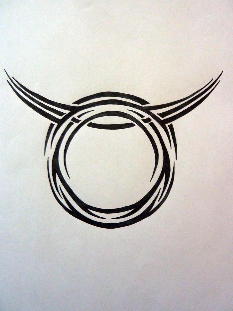 tribal zodiac taurus by magpievon on deviantart. Black Bedroom Furniture Sets. Home Design Ideas