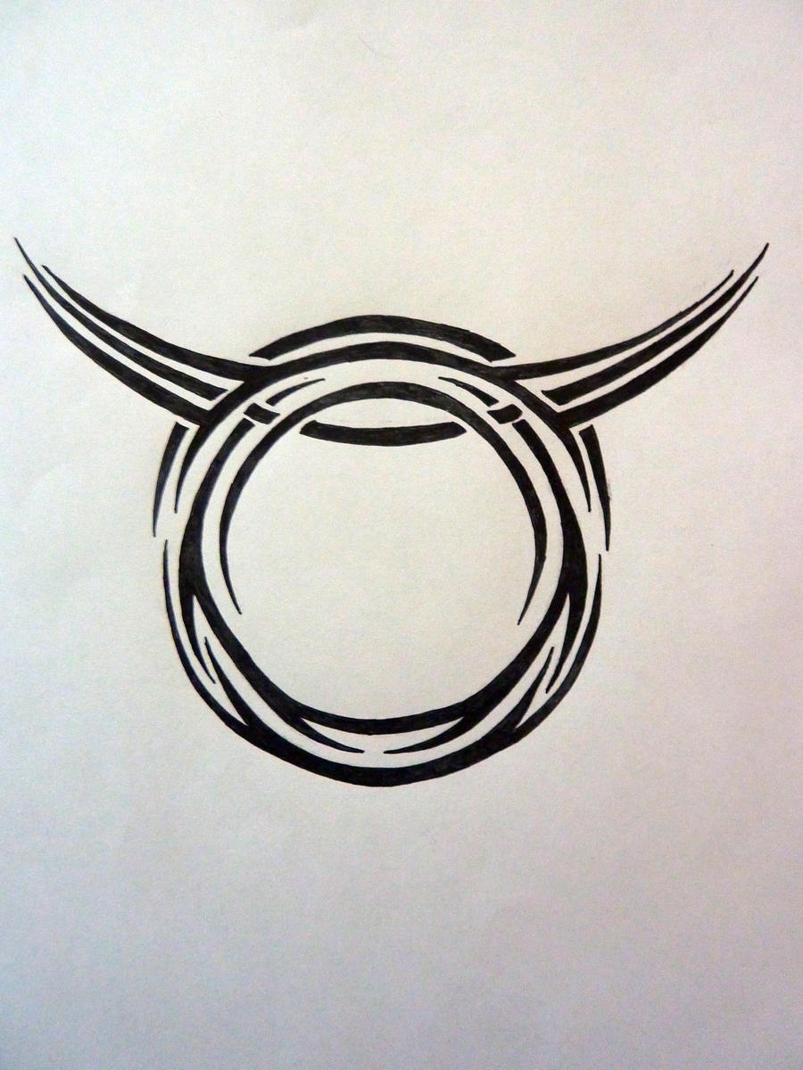 Tribal zodiac taurus by magpievon on deviantart for Taurus horoscope tattoos