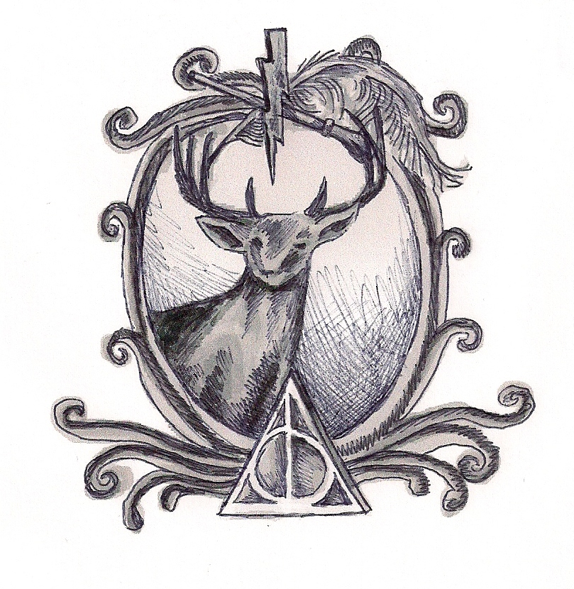 Harry Potter Tattoo Design by graffitieyes