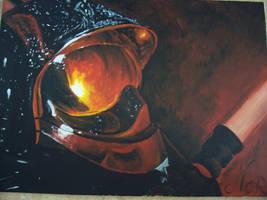 le casque de pompier by Midori-ossan