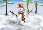 Snowman by Midori-ossan