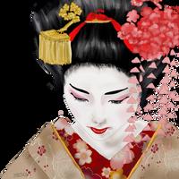 winter geisha by Midori-ossan