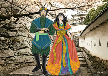 King Alacor and princess Ellora escaflowne project by Midori-ossan