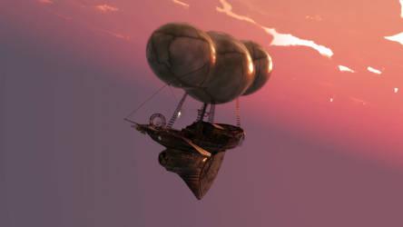 Elfen Skyship by argel1200