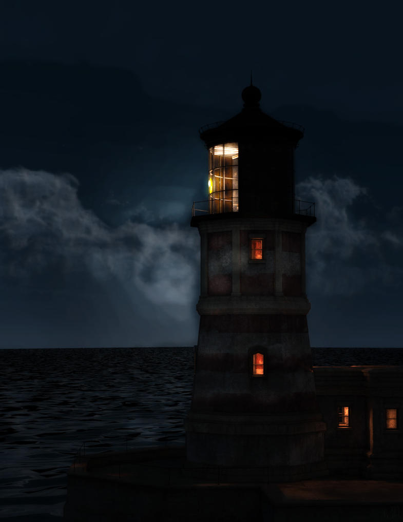 Parkside Point Lighthouse Stylized by argel1200