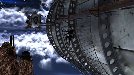 Undercover Cool Talon Agent on a Zeppelin by argel1200