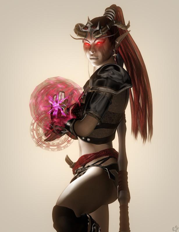 Tiefling Sorceress 1 by argel1200