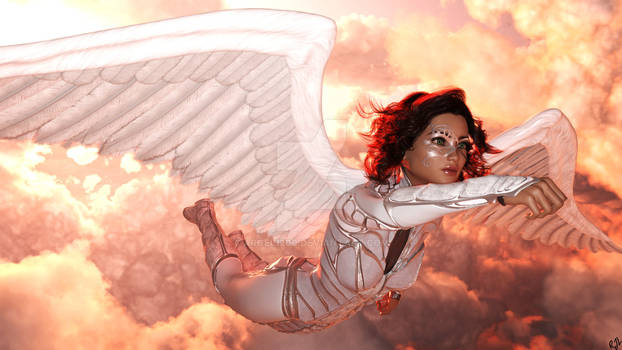 Evelyn Rose as Silver Kite - Golden Age of Comics
