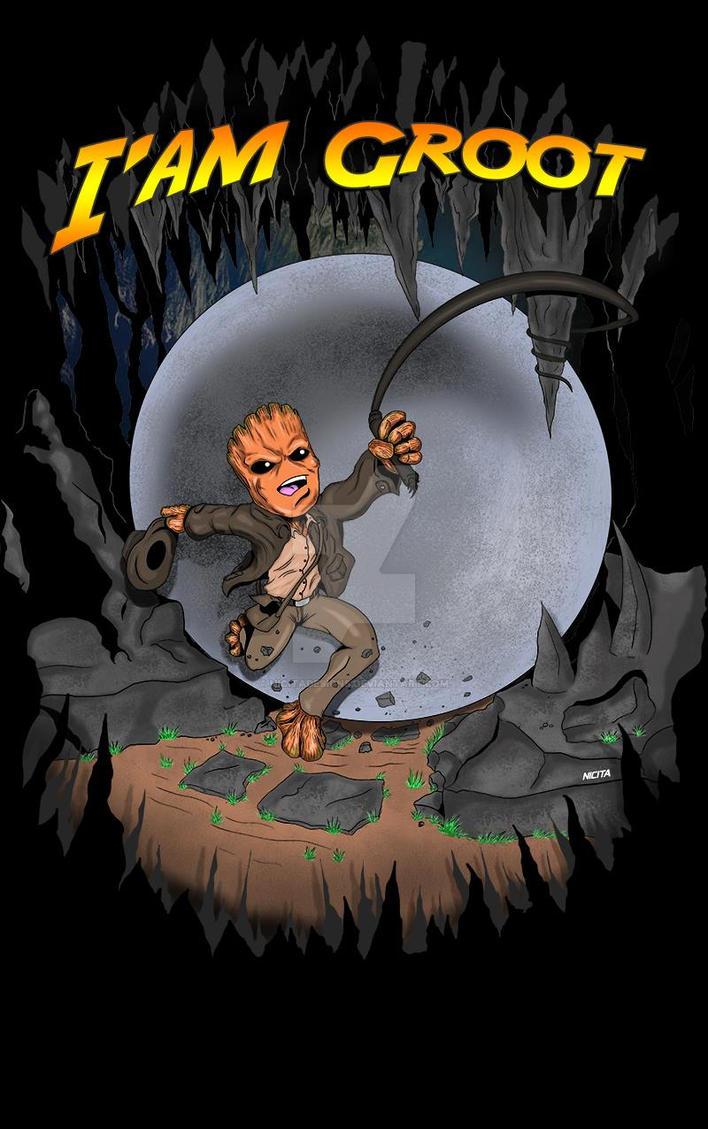 Indiana jones baby Groot by nicitadesigns
