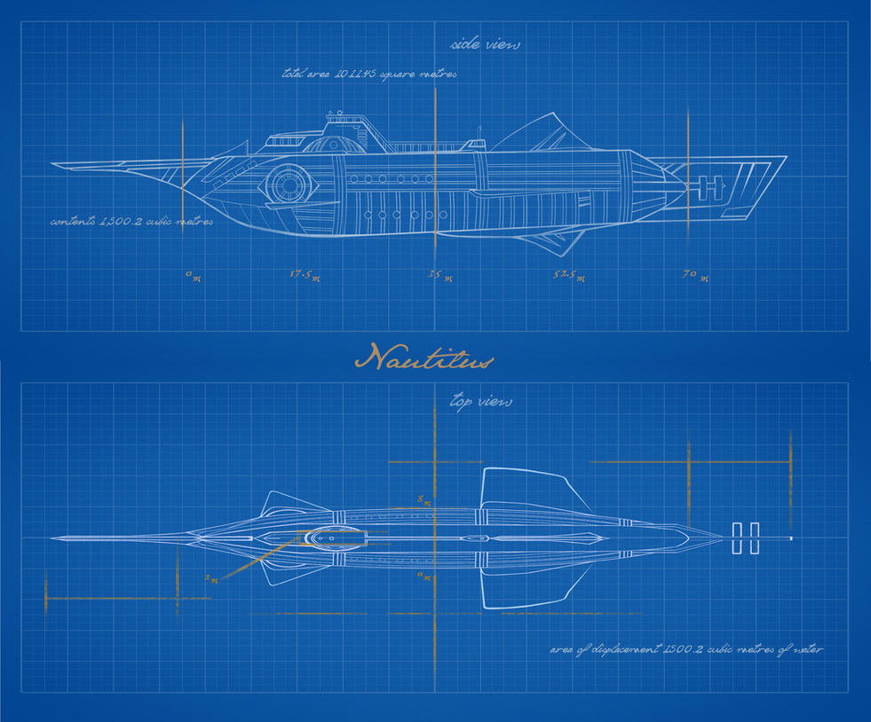 Vernian vectors  (steampunk submersible) Nautilus by rainingcrow