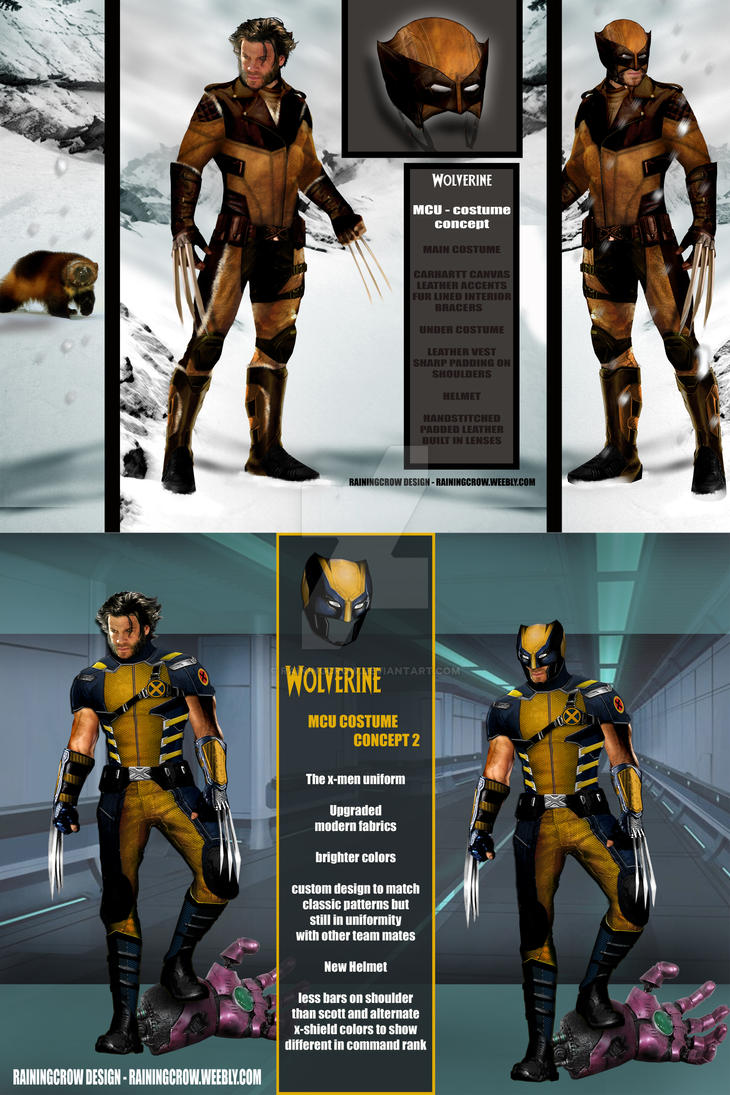 Mcu wolverine designs by rainingcrow on deviantart mcu wolverine designs by rainingcrow solutioingenieria Image collections