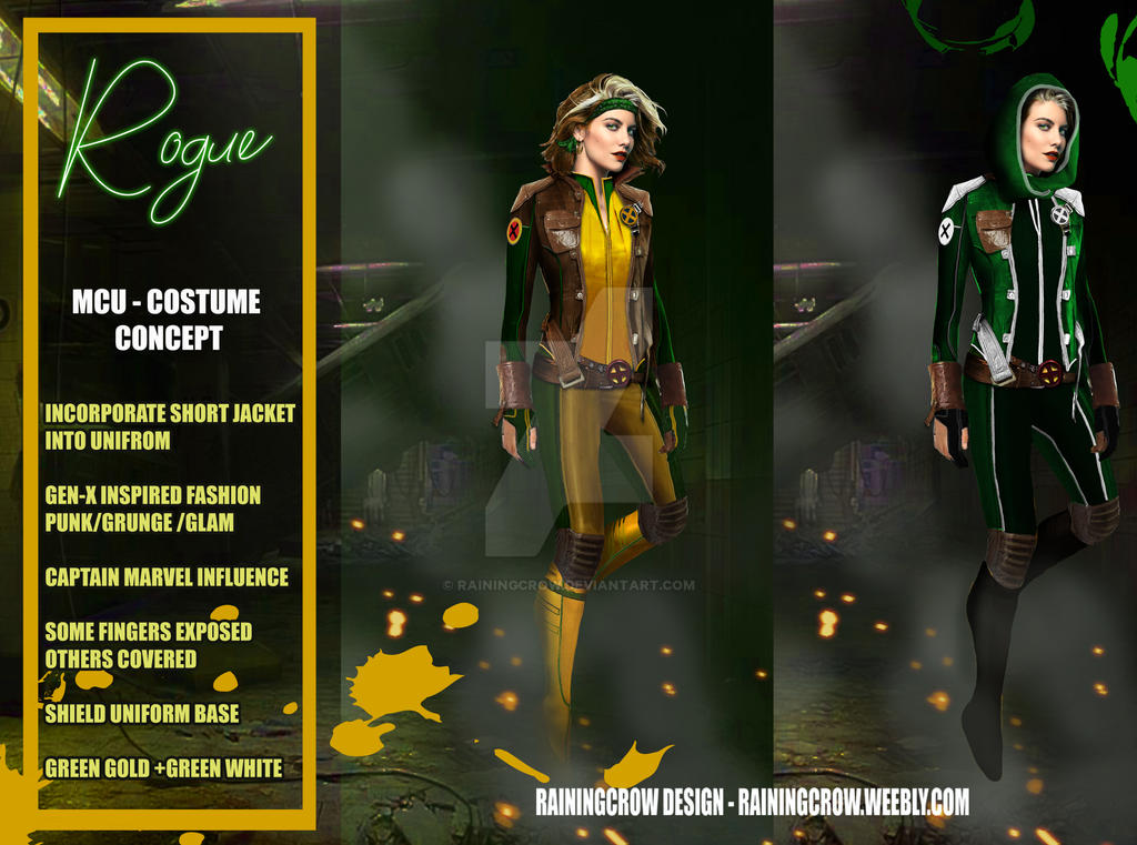 Rogue An Mcu Concept Fan Request By Rainingcrow On