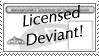 deviantLICENSE Stamp by stixman