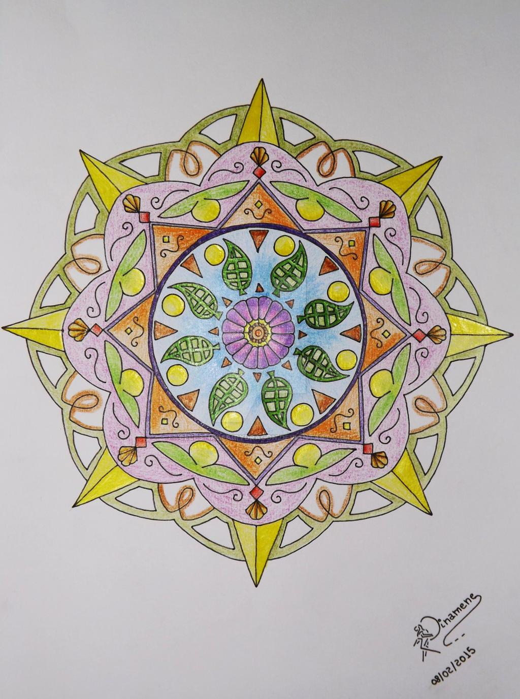Leaves And Flowers Mandala By CelestialFairyDragon On