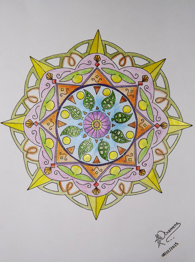 Leaves And Flowers Mandala By CelestialFairyDragon On DeviantArt