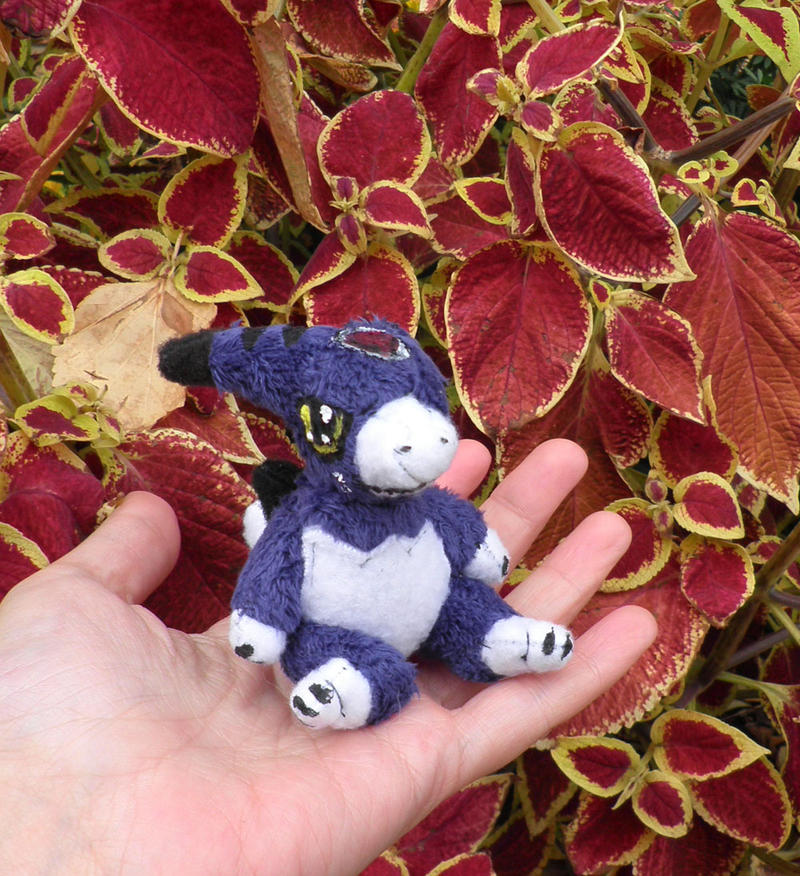 Chibi Dorumon custom plush by Kitamon