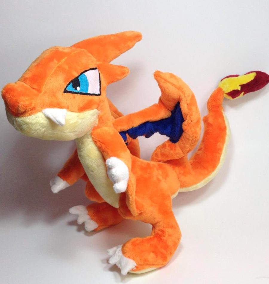 pokemon mega charizard y custom plush by kitamon on