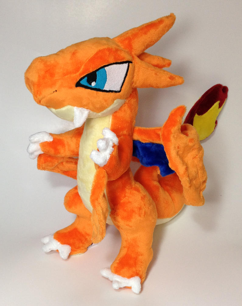 Pokemon - Mega Charizard Y custom plush version 2 by Kitamon