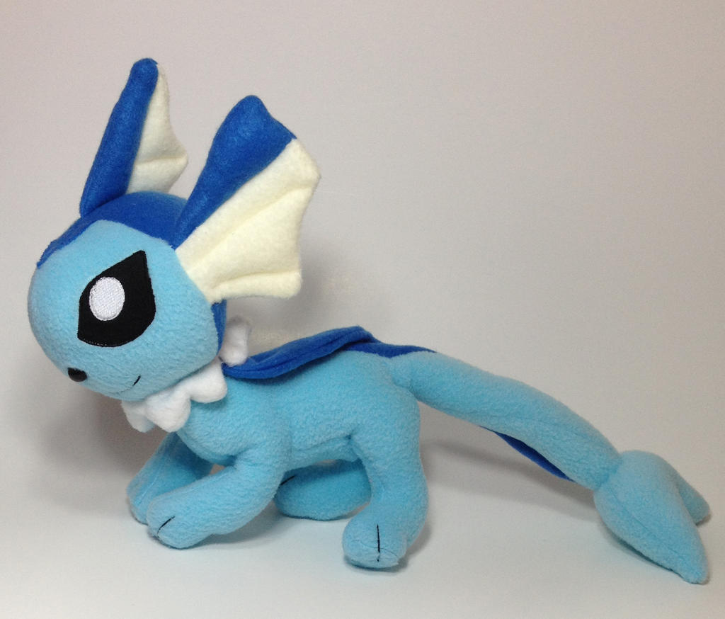 Pokemon - Vaporeon custom plush by Kitamon