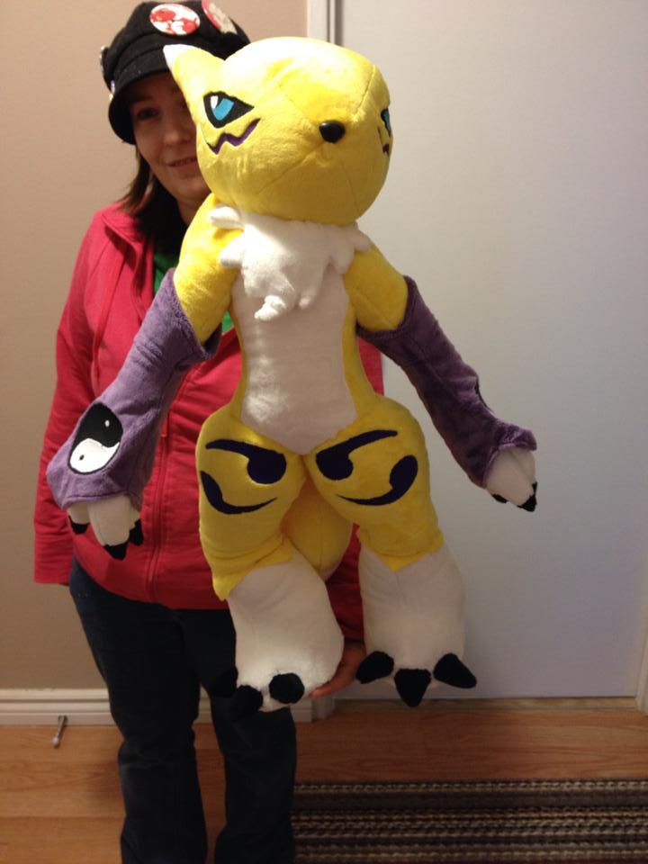 Digimon - Renamon custom plush by Kitamon