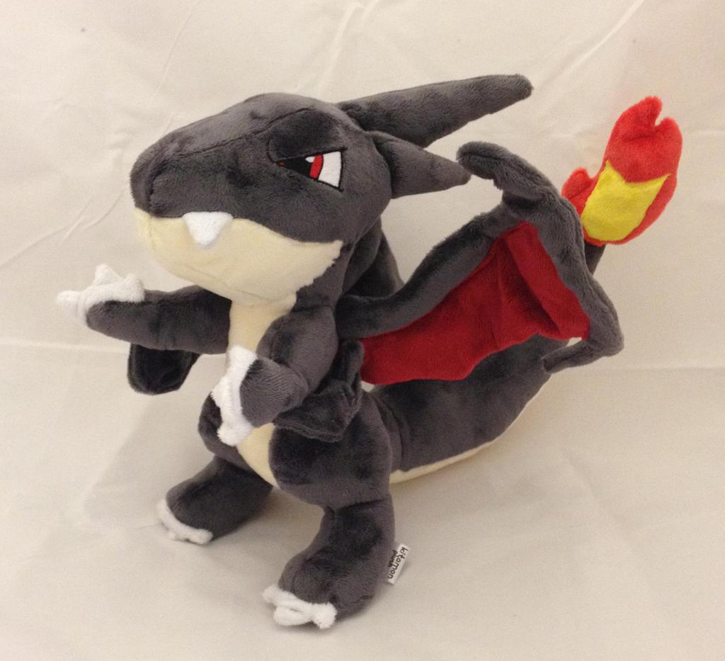 pokemon shiny mega charizard y custom plush by kitamon