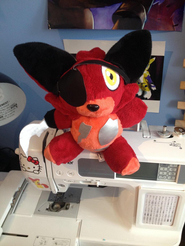 Five night at freddy s foxy custom plush by kitamon on deviantart