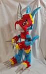 Digimon - Flamedramon custom plush