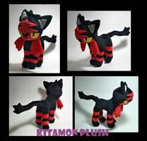 Pokemon - Litten custom plush for auction by KitamonPlush