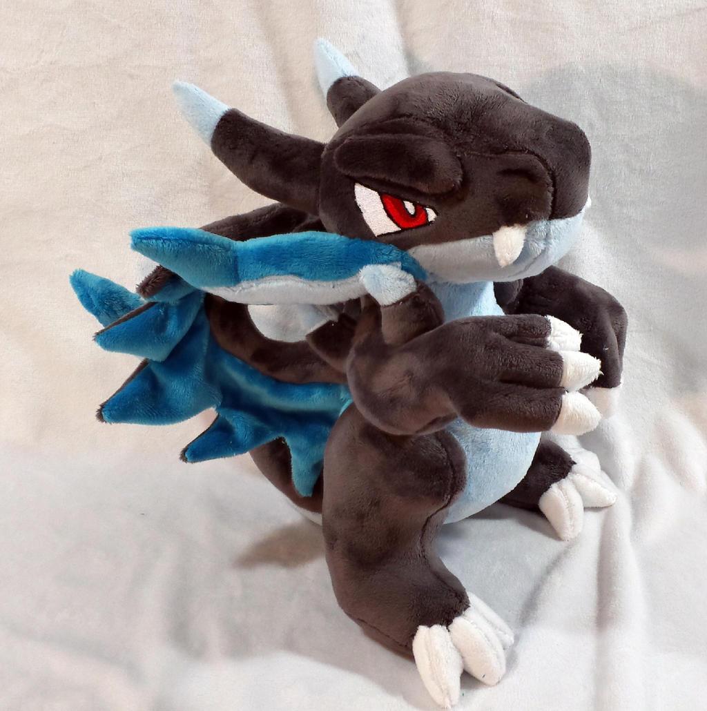 pokemon mega charizard x custom plush by kitamon on