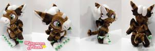 Dutch Angel Dragon -Coffee custom plush commission by KitamonPlush