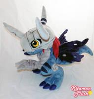Digimon - VirusMetalGreymon custom plush by KitamonPlush