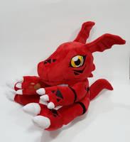 Digimon - Guilmon custom plush commission  by KitamonPlush
